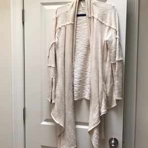 White Free People drape cardigan